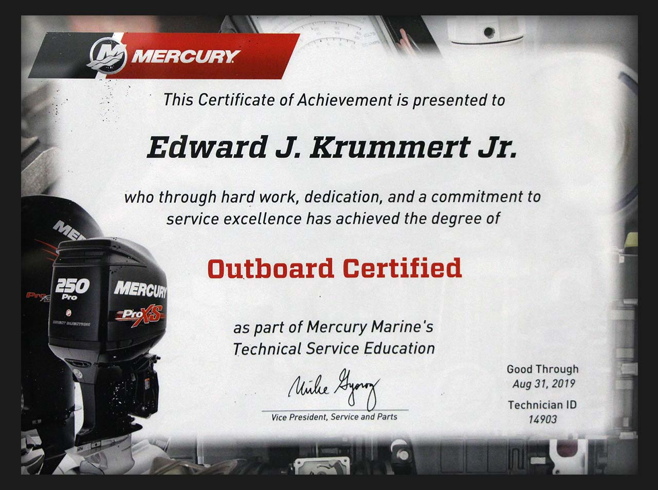 Pittsburgh Mercury Outboard Certified