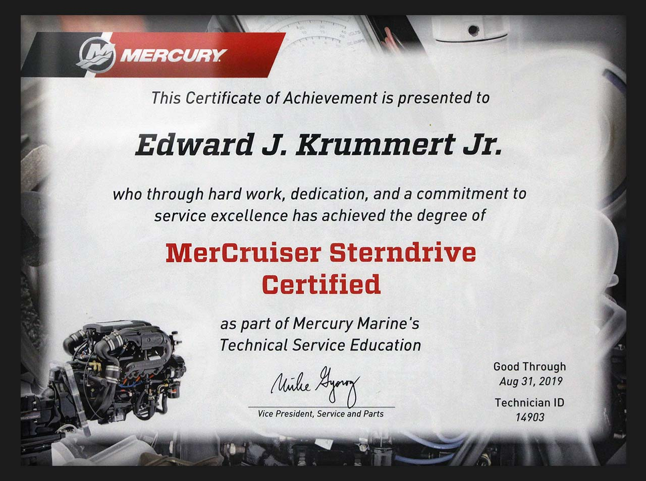 Pittsburgh MerCruiser Sterndrive Certified